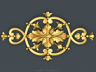 DECOR 096 | STL – 3D model for CNC