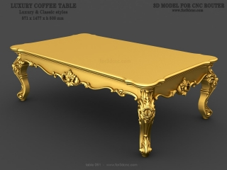 TABLE 061 | STL – 3D model for CNC