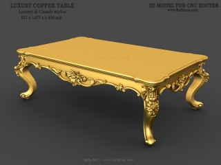 TABLE 062 | STL – 3D model for CNC