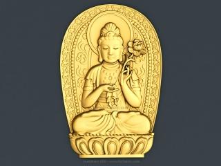 BUDDHISM 005 | STL – 3D model for CNC