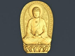 BUDDHISM 006 | STL – 3D model for CNC
