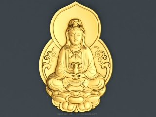 BUDDHISM 007 | STL – 3D model for CNC