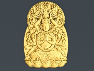 BUDDHISM 008 | STL – 3D model for CNC