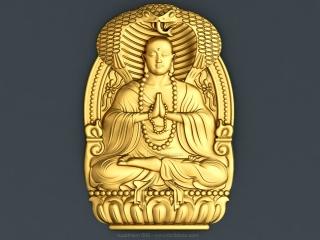 BUDDHISM 009 | STL – 3D model for CNC