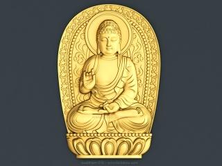 BUDDHISM 010 | STL – 3D model for CNC