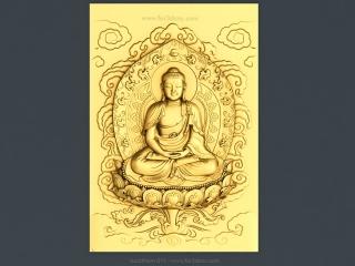 BUDDHISM 011 | STL – 3D model for CNC