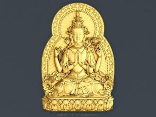 BUDDHISM 014 | STL – 3D model for CNC