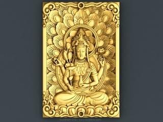 BUDDHISM 015 | STL – 3D model for CNC