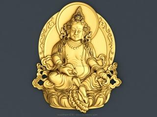 BUDDHISM 016 | STL – 3D model for CNC