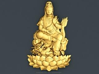BUDDHISM 018 | STL – 3D model for CNC