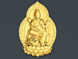 BUDDHISM 019 | STL – 3D model for CNC