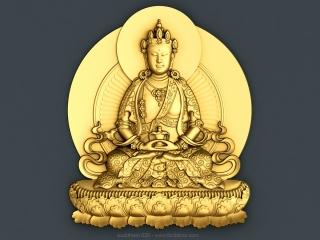 BUDDHISM 020 | STL – 3D model for CNC