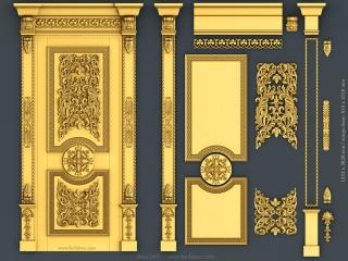 DOOR 045 | STL – 3D model for CNC
