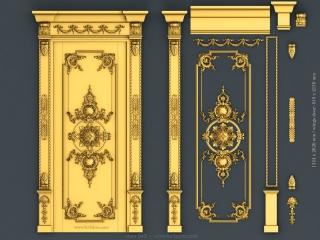 DOOR 043 | STL – 3D model for CNC