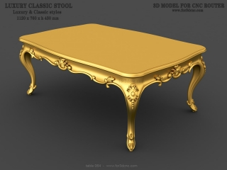 TABLE 064 | STL – 3D model for CNC