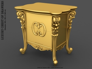 CHEST OF DRAWERS 006  | STL – 3D model for CNC
