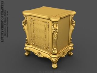 CHEST OF DRAWERS 009  | STL – 3D model for CNC