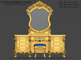 dressing table 009a www for3dcnc com 320x240 - DRESSING TABLE 009 | STL – 3D model for CNC