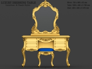 DRESSING TABLE 010 | STL – 3D model for CNC