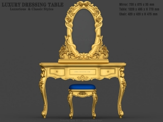 dressing table 011a www for3dcnc com 320x240 - CNC MODEL