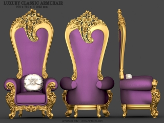 ARMCHAIRS 032 | STL – 3D model for CNC
