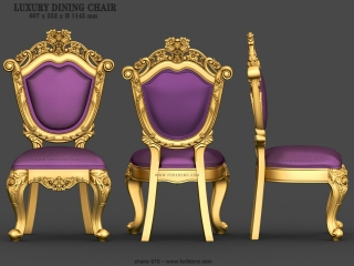 CHAIRS 070 | STL – 3D model for CNC