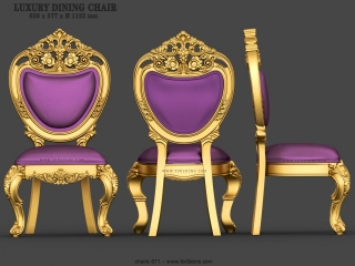 CHAIRS 071 | STL – 3D model for CNC