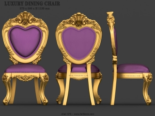 CHAIRS 073 | STL – 3D model for CNC