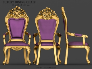 CHAIRS 074 | STL – 3D model for CNC