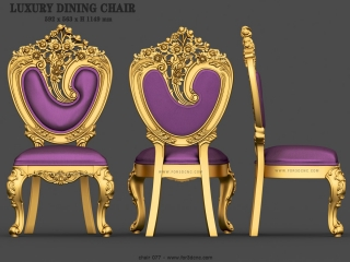 CHAIRS 077 | STL – 3D model for CNC