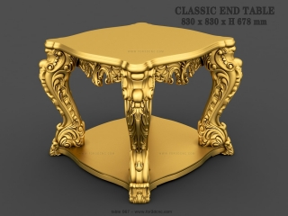 TABLE 067 | STL – 3D model for CNC
