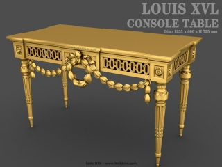 TABLE 073 | STL – 3D model for CNC