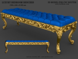 BEDROOM BENCHES 006 | STL – 3D model for CNC