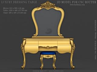 DRESSING TABLE 017 | STL – 3D model for CNC