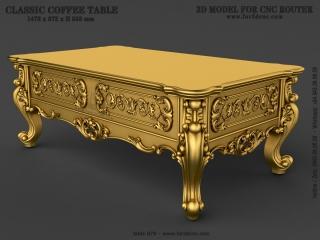 TABLE 079 | STL – 3D model for CNC