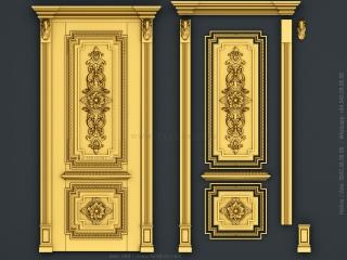 DOOR 068 | STL – 3D model for CNC