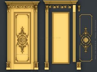 DOOR 072 | STL – 3D model for CNC