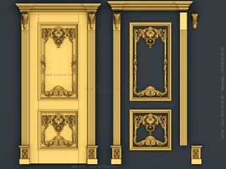 DOOR 074 | STL – 3D model for CNC