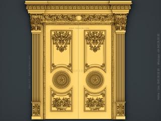 DOOR 077 | STL – 3D model for CNC
