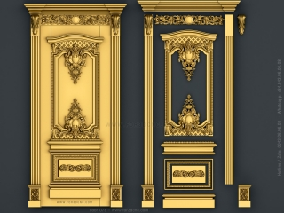 door 078a www for3dcnc com 320x240 - DOOR 078 | STL – 3D model for CNC