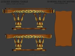 TABLE 081 | STL – 3D model for CNC
