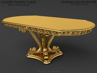 TABLE 082 | STL – 3D model for CNC