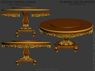 TABLE 087 | STL – 3D model for CNC