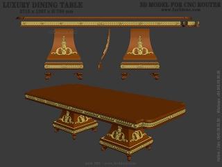 TABLE 090 | STL – 3D model for CNC