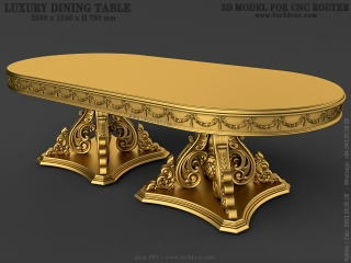 table 091c www for3dcnc com 320x240 - TABLE 091 | STL – 3D model for CNC
